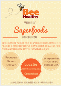 superfoods workshop bijenproducten