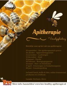 flyer apitherapie vervolgopleiding 2018-2019